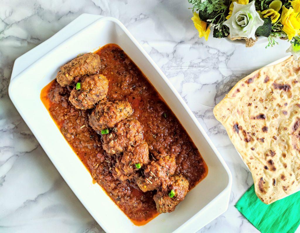 afghani kebab with gravy