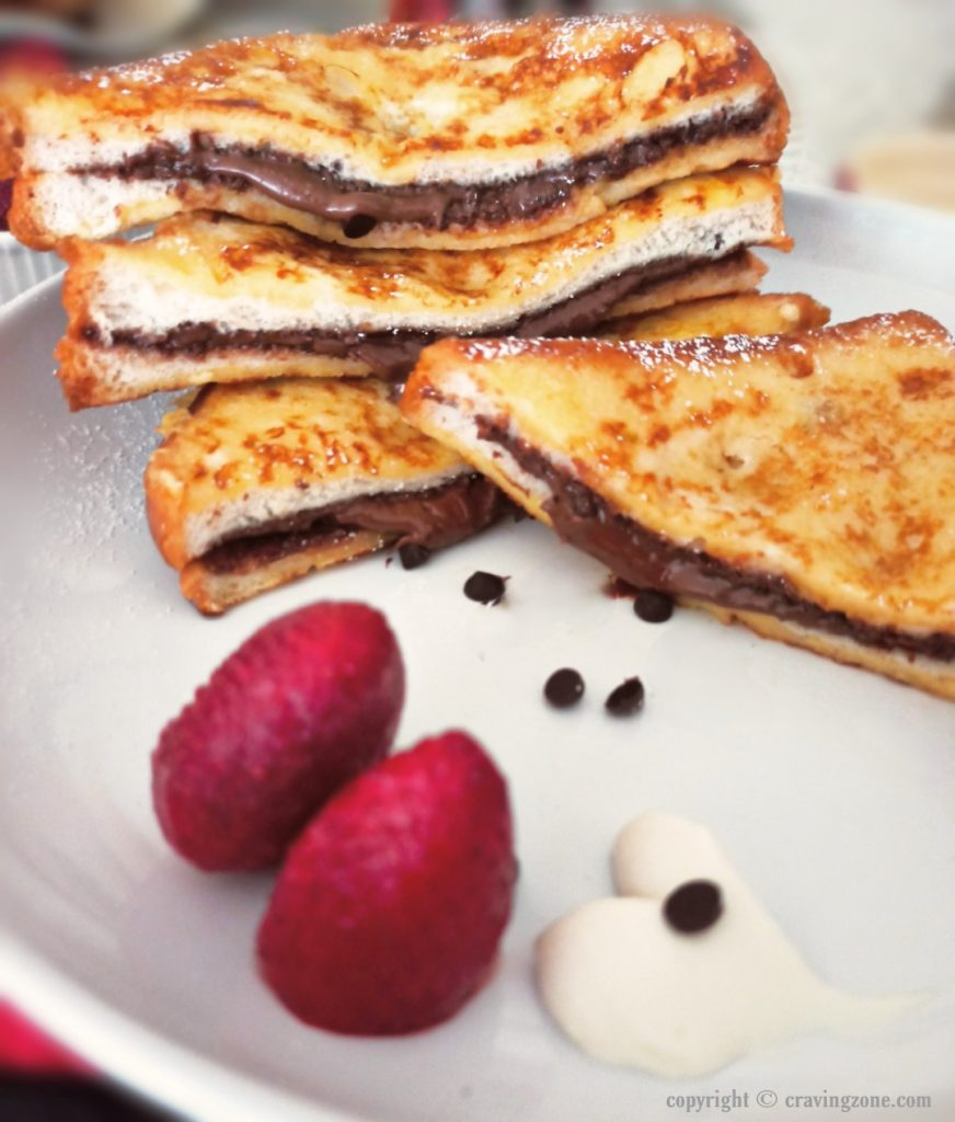 slice of nutella french toast
