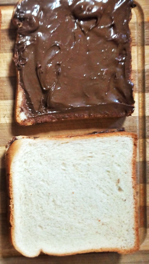 stuffing nutella spread